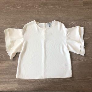H&M Short Flutter Sleeve Blouse